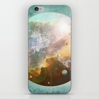 outer space iPhone & iPod Skins featuring Outer Space by Katie Micks