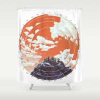 camp Shower Curtains featuring Base Camp by mattdunne
