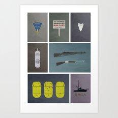 Jaws colors Art Print