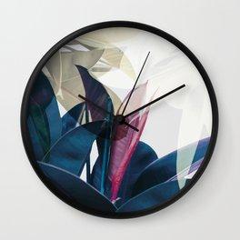 Tropical Leaf Print Wall Clock