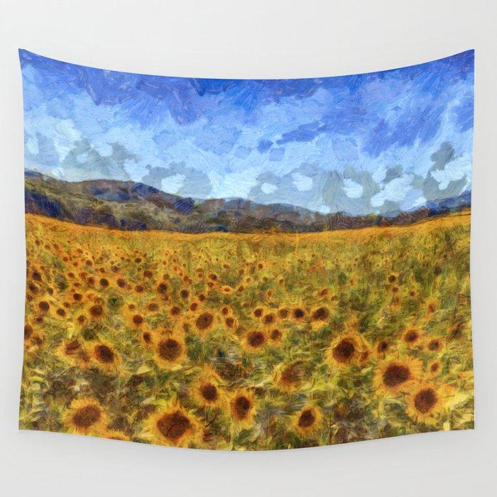 Vincent Van Gogh Sunflowers Wall Tapestry By Davidpyatt