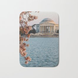 Cherry Blossoms at the Jefferson Bath Mat
