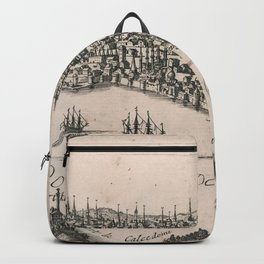 Vintage Pictorial Map of Constantinople (1696) Backpack