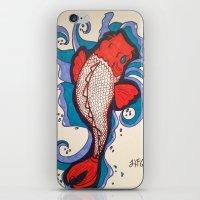 koi fish iPhone & iPod Skins featuring Koi Fish by Hannah Brownfield Camacho