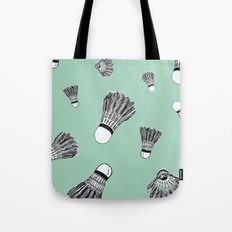 WHO WANTS TO PLAY BADMINTON? - MINT Tote Bag