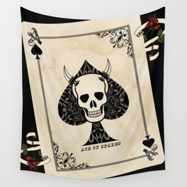 Ace Of Spades - Death Card Wall Tapestry