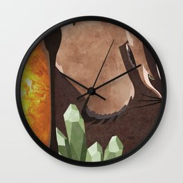 Original Bending Masters Series: Badgermoles Wall Clock
