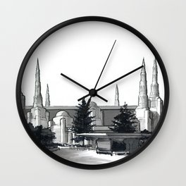 Portland Oregon Temple Wall Clock