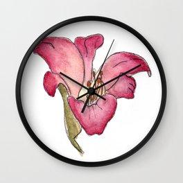 Watercolor Lilly by E Jill RIley Wall Clock