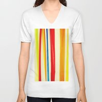 martini V-neck T-shirts featuring Martini by Arwan Mauriattama