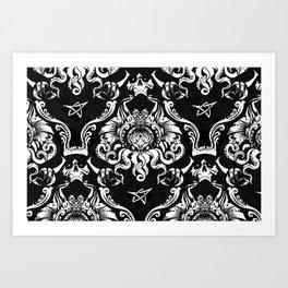 Cthulhu Damask Art Print