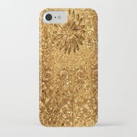 gold glitter iPhone & iPod Cases featuring Glitter Gold by Saundra Myles