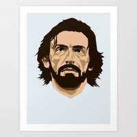 pirlo Art Prints featuring Pirlo by The World Cup Draw