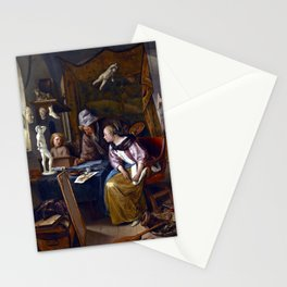 Jan Steen The Drawing Lesson Stationery Cards