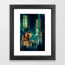 Tokyo Nights / Memories of Green / Blade Runner Vibes / Cyberpunk / Liam Wong Framed Art Print