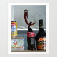coca cola Art Prints featuring Coca cola by Miz2017
