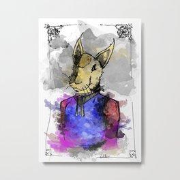 Proper Rabbit Metal Print