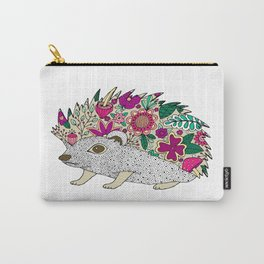 Woodland Hedgehog Illustration Carry-All Pouch