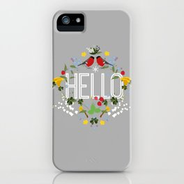 Hello blomster iPhone Case