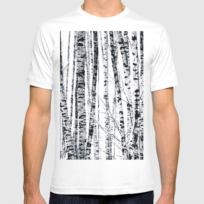 894f527ed59 Birch Trees In Winter T-shirt by digital2real