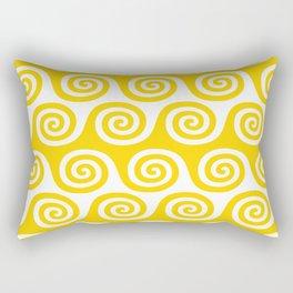 Mid Century Modern Wave Pattern Yellow Rectangular Pillow