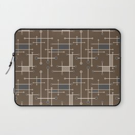 Intersecting Lines in Brown, Tan and Gray Laptop Sleeve
