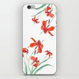 orange day lily iPhone Skin