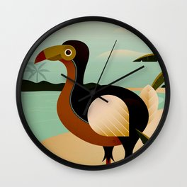 Mauritius Vintage Travel and Tourism Advertising Print Wall Clock