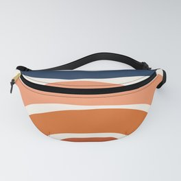 Abstract Shapes 9 in Burnt Orange and Navy Blue Fanny Pack