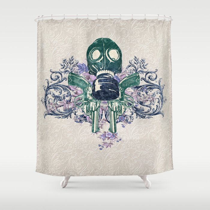 Post Apocalypse Punk Shower Curtain
