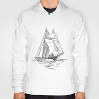 sailing Hoodies featuring Sailing by Texnotropio