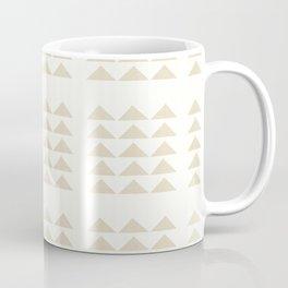 Tribal Triangles in Tan Coffee Mug