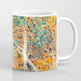 Paris mosaic map #2 Coffee Mug
