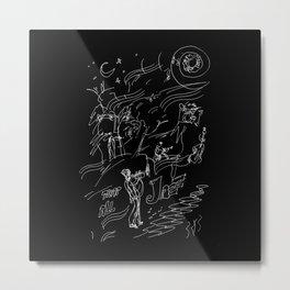 Jazz Midnight Tunes Metal Print