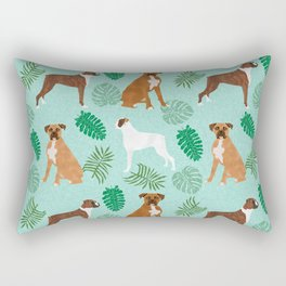 boxer monstera tropical summer dog breed gifts pure breed pets Rectangular Pillow