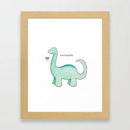 Apatosaurus Dinosaur Framed Art Print