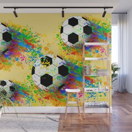 Football soccer sports colorful graphic design Wall Mural