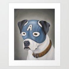 Captain America (American Bulldog) Art Print