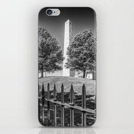 BOSTON Bunker Hill Monument | Monochrome iPhone Skin