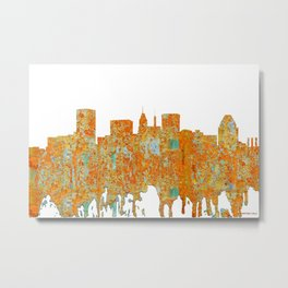 Baltimore, Maryland Skyline - Rust Metal Print