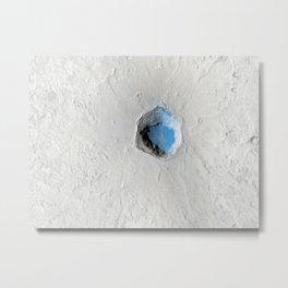Volcano on Mars Metal Print