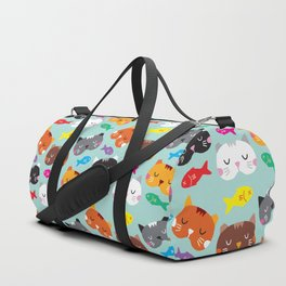 Cats Love Fish I Duffle Bag