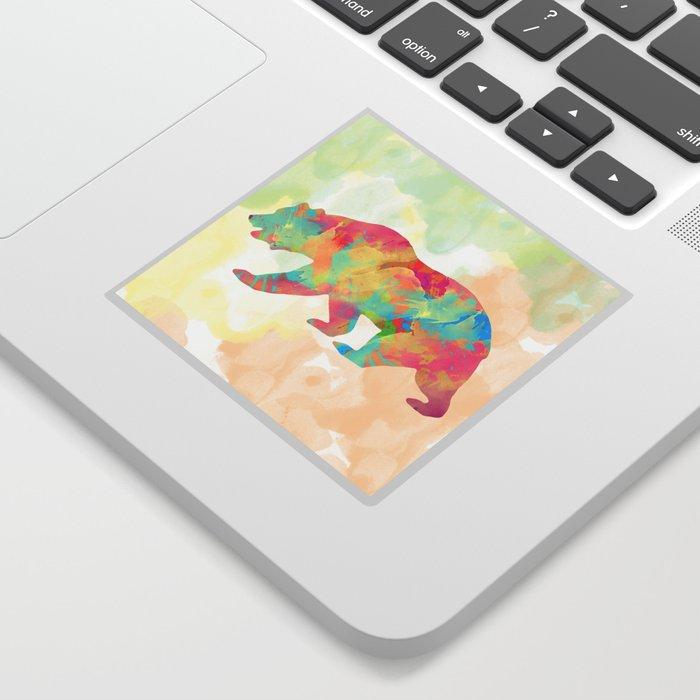 Abstract Bear Sticker