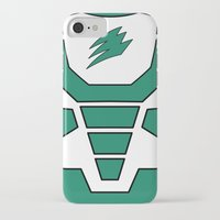 power ranger iPhone & iPod Cases featuring Green Spirit Ranger by JoSumdac