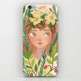 Herbs and Wildflower Nymph iPhone Skin