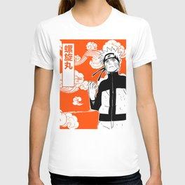 ninja anime orange T-shirt