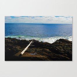 The Pacific Ocean as seen from the Wild Pacific Trail on Ucluelet, BC Canvas Print