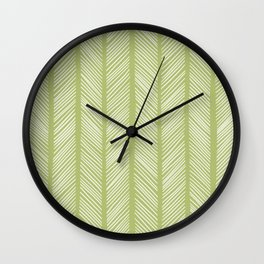 Fern Herringbone 2 Wall Clock