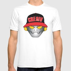 Creative Robot White Mens Fitted Tee MEDIUM