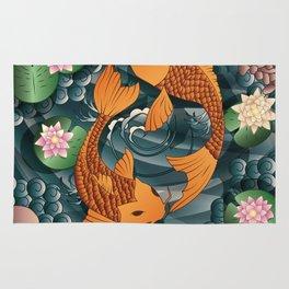 Carp Koi Fish in pond 001 Rug